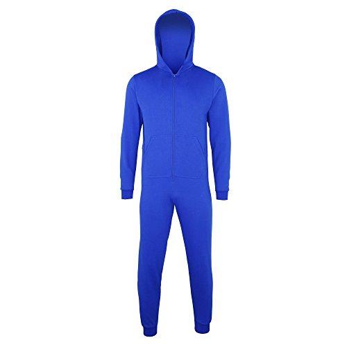 Comfy Co - Onesie/Mono/Pijama de una Pieza Liso Entero Unisex niño/niña (3-4 Años) (Azul eléctrico)