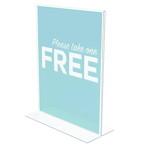 """Deflecto Classic ImageStand Up Sign Holder, 8.5"""" x 11"""""""