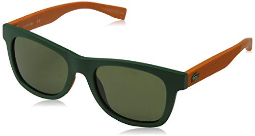 Lacoste Unisex-Kinder L3617S 318 48 Sonnenbrille, Grün (Matte Olive)