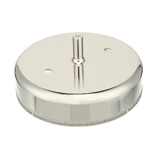 sourcingmap® 120mm Durchmesser Diamantpartikel beschichtete Spitze Lochsäge Bohrer für Glas de