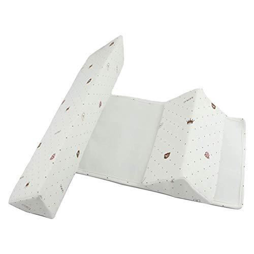 Yuciya Baby Seite Schlafkissen, Baby Anti-Rolling Seite Schlafkissen zu Anti-Flat Head, Reißverschluss Design Dreieck Säuglingskissen für Kleinkinder und Neugeborene (Kleinkind 0-6 Monate)