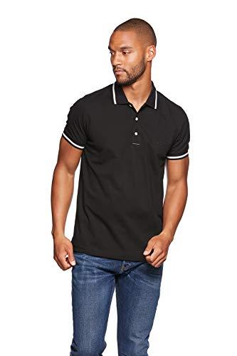 Jeff Green Herren Kurzarm Poloshirt David, Größe - Herren:XL, Farbe:Black/Grey