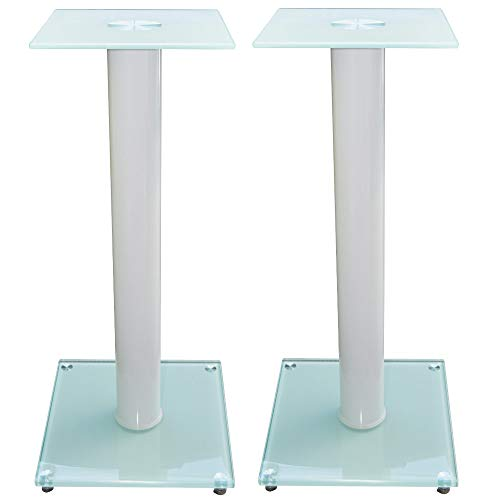 1 par de Soportes para Altavoces V1 White-Line de Cristal y Aluminio...