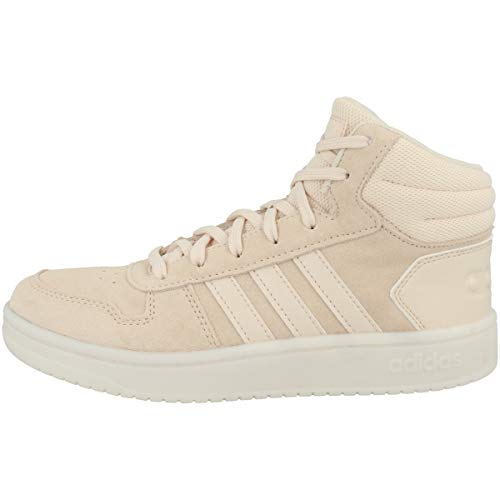 adidas Damen Sneaker mid Hoops 2.0 Mid W, Linen Footwear White Ee7894, 38 2/3 EU