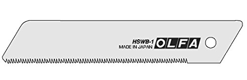 Sägeblatt Klinge für Japan Profi Cuttermesser 25mm | Made in JAPAN | Olfa 50487 | Excel Black Ultrascharf | Fabelhaft Sonderedition