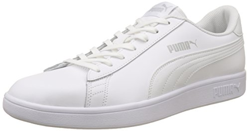 PUMA Smash v2 L, Zapatillas Unisex Adulto, White White, 41 EU