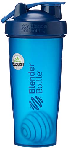 Blender Bottle Classic Loop - Protéine Shaker | Bouteille d'eau avec poignée de transport, Mixte Adulte, Bleu (Full Color Navy), 940 ml