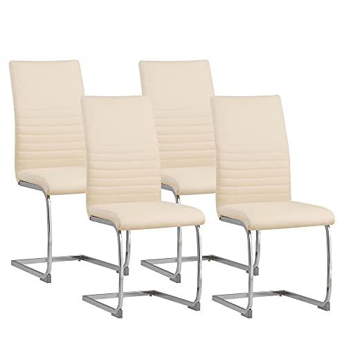 Albatros sedia a sbalzo BURANO Set di 4 sedie, beige, SGS testato
