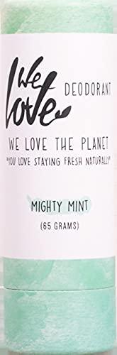 We Love The Planet Bio WLTP - Desodorante en barra natural Mighty Mint (2 x 65 g)