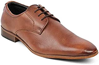 tresmode Men's Tan Leather lace Shoes