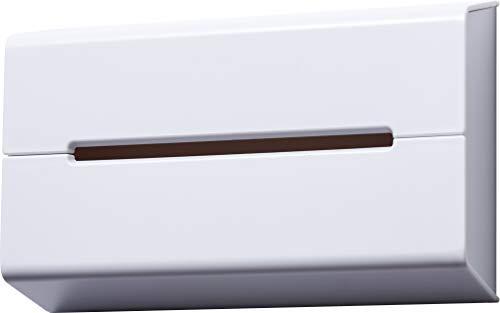 イデアコ ティッシュケース 壁に貼って使えるウォール ホワイト