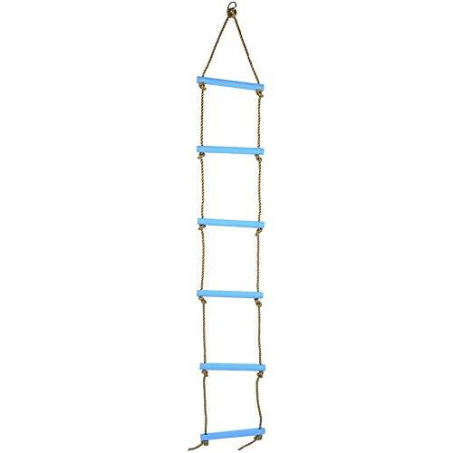 Het beklimmen van Ladder, Nylon Climbing Touwladder voor Swing Sets Accessoires Plastic Six-afdeling voor kinderen Kids Toy Oefenmateriaal