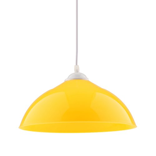 Homyl Halbrund Lampenschirm für Pendelleuchte Hängelampe Industrie Deckenlampe/Deckenleuchte - Gelb