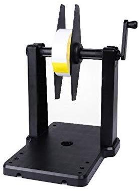 Manueller Etikettenaufwickler, kleiner Etikettenständer, Barcodeaufwickler, anwendbare Etikettenbreite 25–117 mm, externer Rollenständer für Drucker