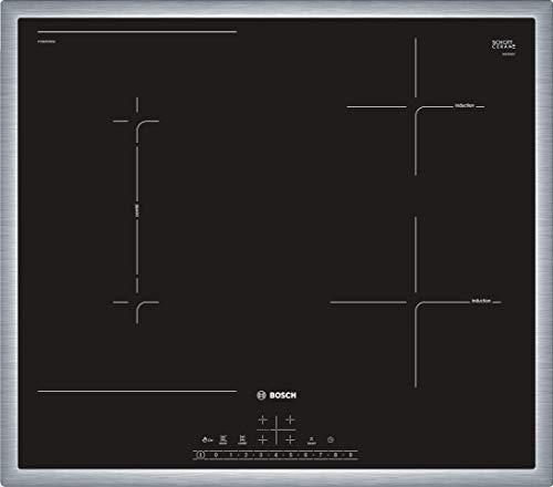 Bosch PVS645FB5E Serie 6 Induktionskochfeld (autark) / 60 cm / Schwarz / Umlaufender Rahmen / DirectSelect / 17 Leistungsstufen / PowerBoost / MoveMode / CombiZone