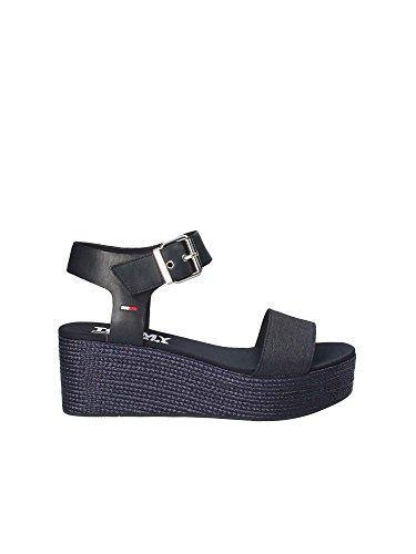 Tommy Hilfiger Scarpa Sandalo Zeppa Donna EN0EN00221 Blu (40)