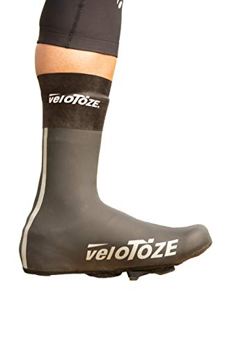 VELOTOZE - Cubrezapatos de Neopreno Unisex, Unisex Adulto, Couvre Chaussure Neoprene, Negro, Small