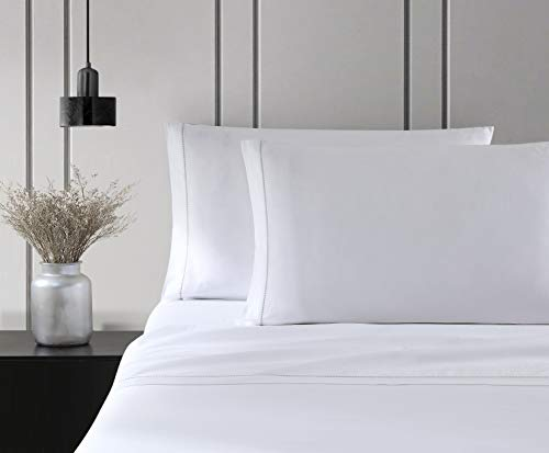 Vera Wang | Simple Dot Collection | Bed Sheet Set - 100% Cotton, Silky Smooth & Luminous Sheen, Wrinkle-Resistant Bedding, King, Grey