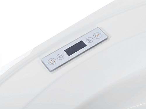 Whirlpool Badewanne Florenz mit 14 Massage Düsen + Heizung + Ozon Desinfektion + Beleuchtung / Licht + Wasserfall + Radio – Eckwanne Sprudelbad Jakuzzi indoor / innen günstig - 11