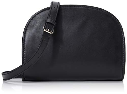 PIECES Damen Pchonoria Leather Cross Body Umhängetasche, Schwarz (Black), 6x15x20,5 cm