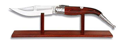 Martinez Albainox Navaja 52cm rießiges Taschenmesser mit Holz-Ständer f. Präsentation