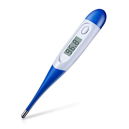 HOMCA Digital Medical Thermometer for Adult, Accurate Fast Read Oral Thermometer Fever Indicator Rectal Thermometer with Flexible Waterproof Tip