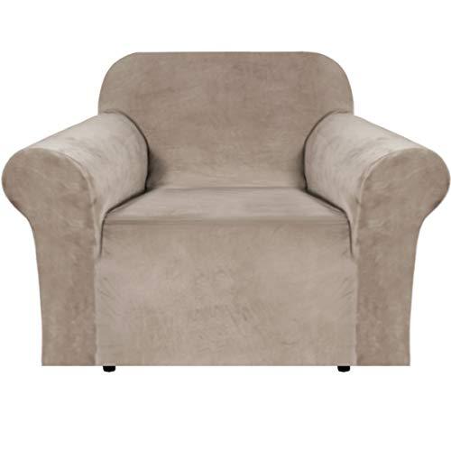 Funda elástica de terciopelo para sillón, 1 funda de cojín para muebles de sala de estar, hecha de terciopelo grueso y cómodo...