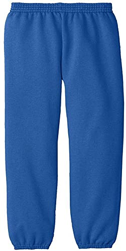 Joe's USA Youth Soft and Cozy Sweatpants in Royal- Youth XL(18-20)