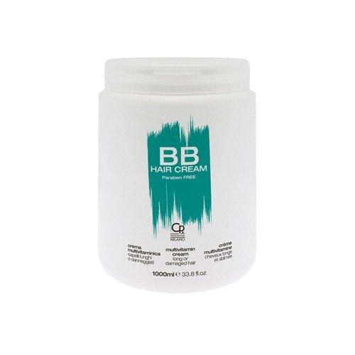 BB Hair Care - Cream Multivitaminica - Maschera Professionale per Capelli Lunghi e Danneggiati - Rinforza e Protegge da Doppie Punte e Rottura - Trattamento Balsamo per Capelli Morbidi e Setosi - 1 L