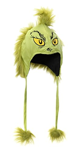 Dr. Seuss The Grinch Plush Costume Hoodie Hat for Adults and Teens