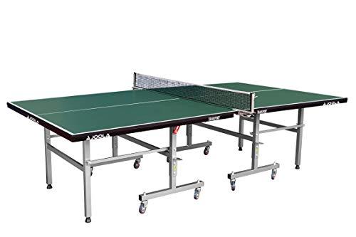 JOOLA Tischtennistisch Transport Indoor Tischtennisplatte Schul- und Vereinssport - Transportsystem - Schneller Aufbau, GREEN, 19 MM Plattenstärke