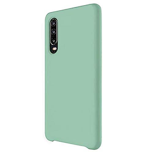Funda para Huawei P30/P30 Pro Teléfono Móvil Silicona Liquida Bumper Case y Flexible Scratchproof Ultra Slim Anti-Rasguño Protectora Caso (Mint Green, Huawei P30)