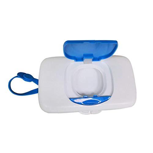 fedsjuihyg Wet Wipes Caja Dispensadora Caso Portable Azul Contenedor De Almacenamiento Al Aire Libre Fácil De Llevar Prueba De Polvo para Lo Esencial De Viajes para Recién Nacido