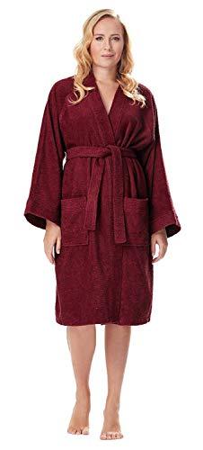 Arus Albornoz Kimono para Mujer, Burdeos, S/M