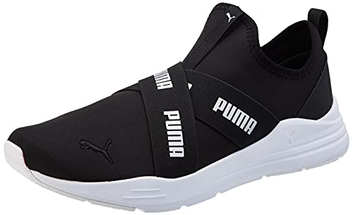 Puma Wired Run Slipon Wmn, Zapatillas Deportivas Mujer, Black, 39 EU