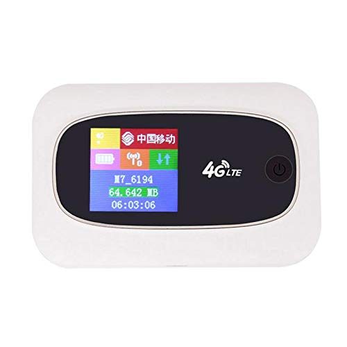 Nrpfell Tragbarer Mobiler Hotspot MiFi 4G LTE 300 Mbit/S WLAN Router SIM Karte Entsperrt Global 2.4G WLAN Router Wei?
