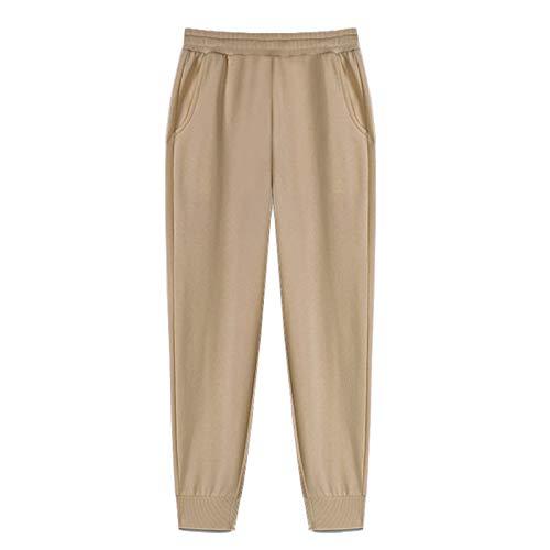 YIBANG-DIANZI Hoddie para Mujer Mujeres Unisex Pareja con Capucha, Invierno Casual Suelto Jumper más tamaño Señoras de otoño e Invierno Tops (Color : Pants 1 Khaki, Size : M)