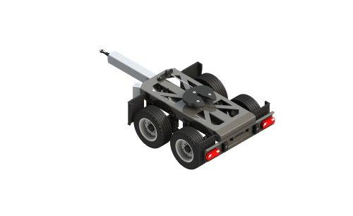 Carson 500907210 - 1:14 - 2 Axes Dolly Rigide - Accessoires de Camion RC - Échelle 1:14 - Tendeur Gigaliner - Remorque - Pièces de Rechange - Pièces de Tuning - Modèle