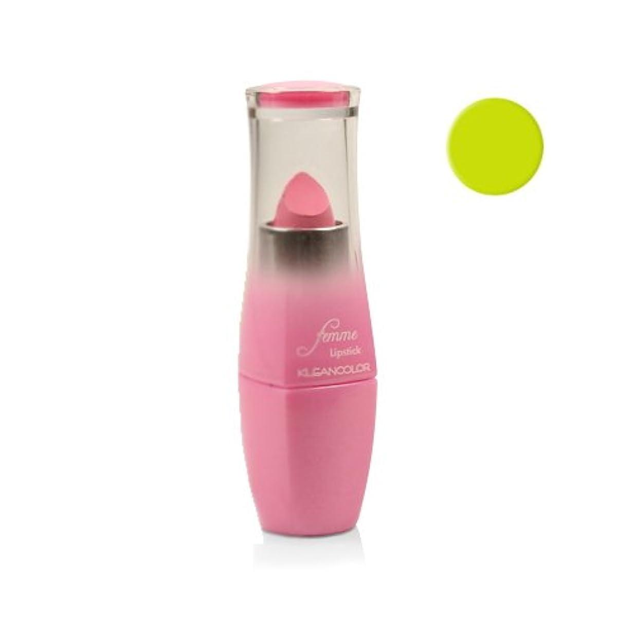 恐れ繁栄する鳴り響く(6 Pack) KLEANCOLOR Femme Lipstick - Magic Lime (並行輸入品)