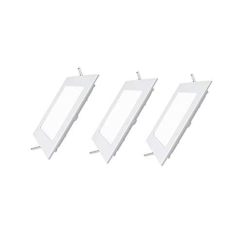 Lot de 3 Spots LED Encastrable extra plat carré - 15W 1200LM - Equivalent 120W - Blanc neutre 4500K - Downlight Plafonnier LED ultra fin salon chambre cuisine - 190*190*20*mm [Classe énergétique A+]…