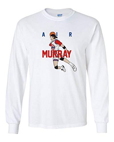 Long Sleeve White Bill Murray Space Jam AIR T-Shirt Adult
