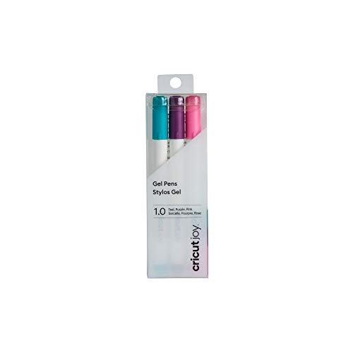 Cricut Joy 3pk 1.0 Point Gel Pens Teal/Purple/Pink