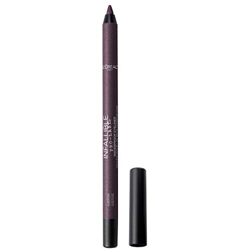L'Oreal Paris Makeup Infallible Pro-Last Pencil Eyeliner, Waterproof and Smudge-Resistant, Glides on Easily to Create any Look, Aubergine, 0.042 Oz.