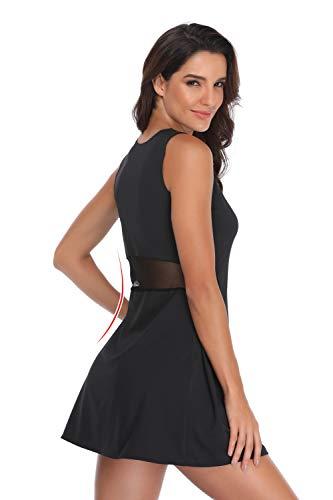 Saadiya Sport Dresses for Women, Sleeveless Tennis Dresses Girl's Sportwear Workout Mesh Dress
