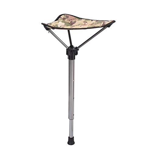 Silla plegable de marco de acero de ocio al aire libre Pesca Silla de la pesca Presidente de la herramienta al aire libre plegable retráctil heces portátil Trona individual pata de la silla al aire li