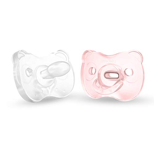 Medela Baby Soft Silicone Pacifier for 0-6 Months, Bpa Free, Lightweight & Orthodontic, Designed to Support Baby's Natural Suckling, Baby Pacifiers - 2 Pack