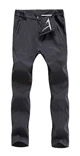 Ivnfout Men's Outdoor Fleece Windproof Hiking Pants Waterproof Ski Pants
