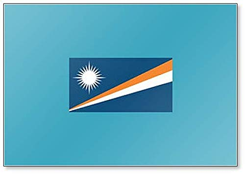 Marshall Islands Flag Classic Koelkast Magneet