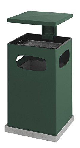 Cendrier corbeille à papier avec toit amovible 80 L vert