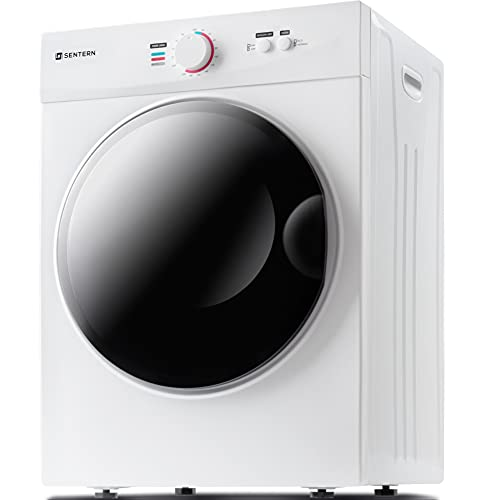 Sentern Portable Dryer Front Load, Compact Electric Clothes Dryer with Stainless Steel Tub, Easy Control Panel with 5 Drying Modes for Apartments
